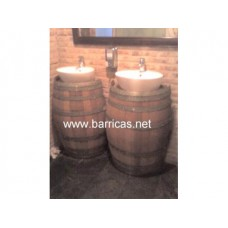 Lavabo medio barril