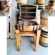 Botellero barril cofre