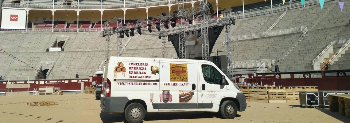furgoneta en evento
