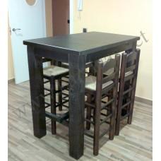 Mesa alta rustica cocina